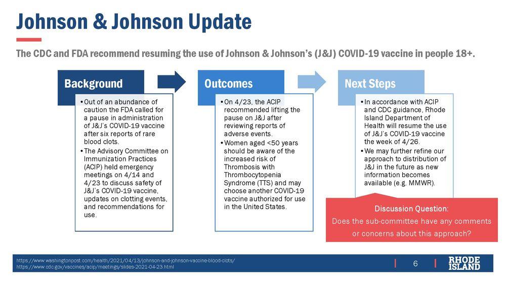 Rhode Island resumes Johnson & Johnson vaccinations
