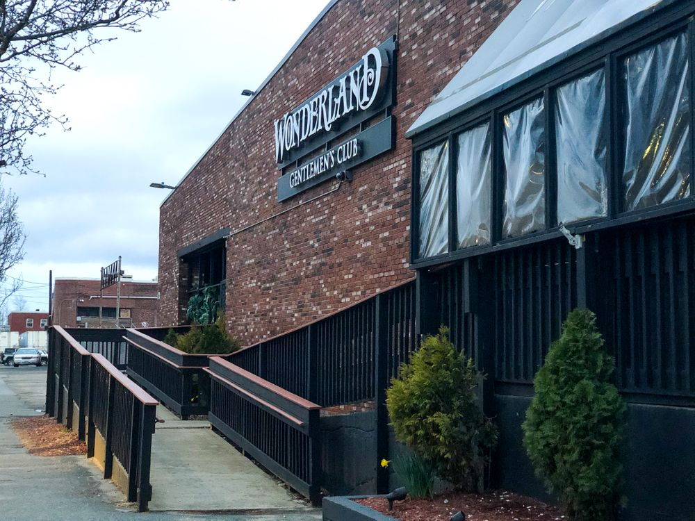 Wonderland Gentleman's Club, one of the clubs ordered to close under Governor Raimondo's temporary nonessential business ban