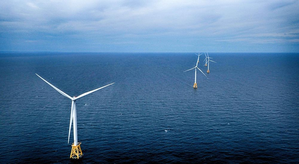 Block Island Wind Farm, the country's first offshore wind.