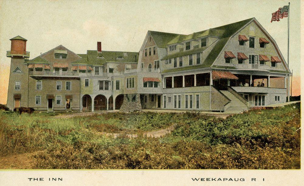 A postcard of the Weekapaug Inn from circa 1905.