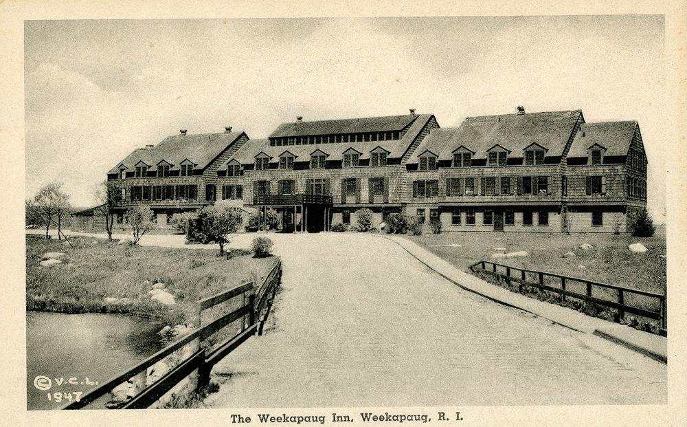 The rebuilt Weekapaug Inn is pictured in 1947.