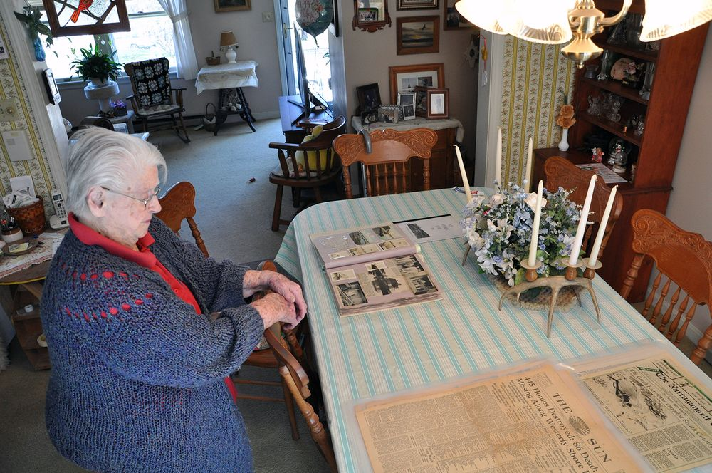Barbara Coon pictured recently at her home in Pawcatuck, Conn.