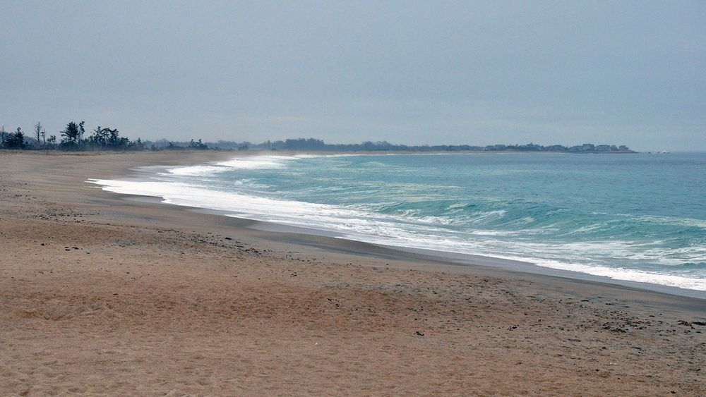 The view towards Charlestown on the Quonochontaug Barrier Beach.