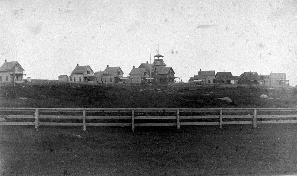 Weekapaug cottages built in 1877 are pictured here.
