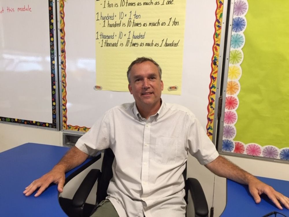 Kurt Totten teaches fourth grade at Melville Elementary School in Portsmouth.