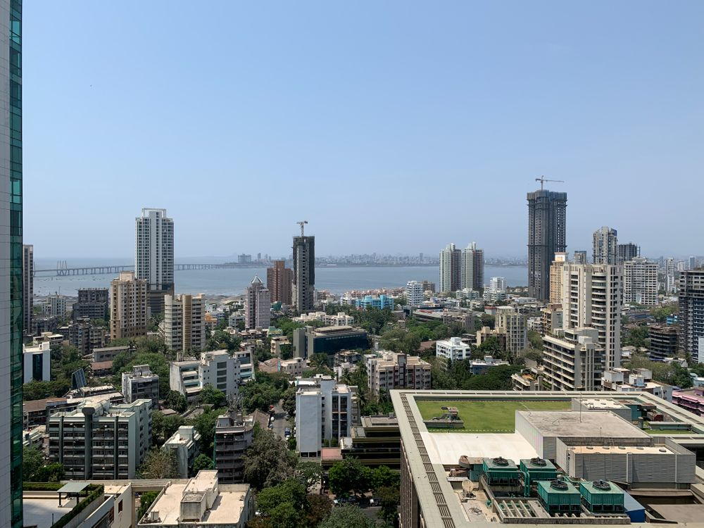 The skyline in Mumbai, India