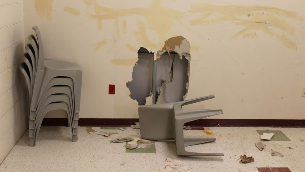 ICE detainees destroyed walls, mirrors, appliances and phones during a protest last May over coronavirus protocols.