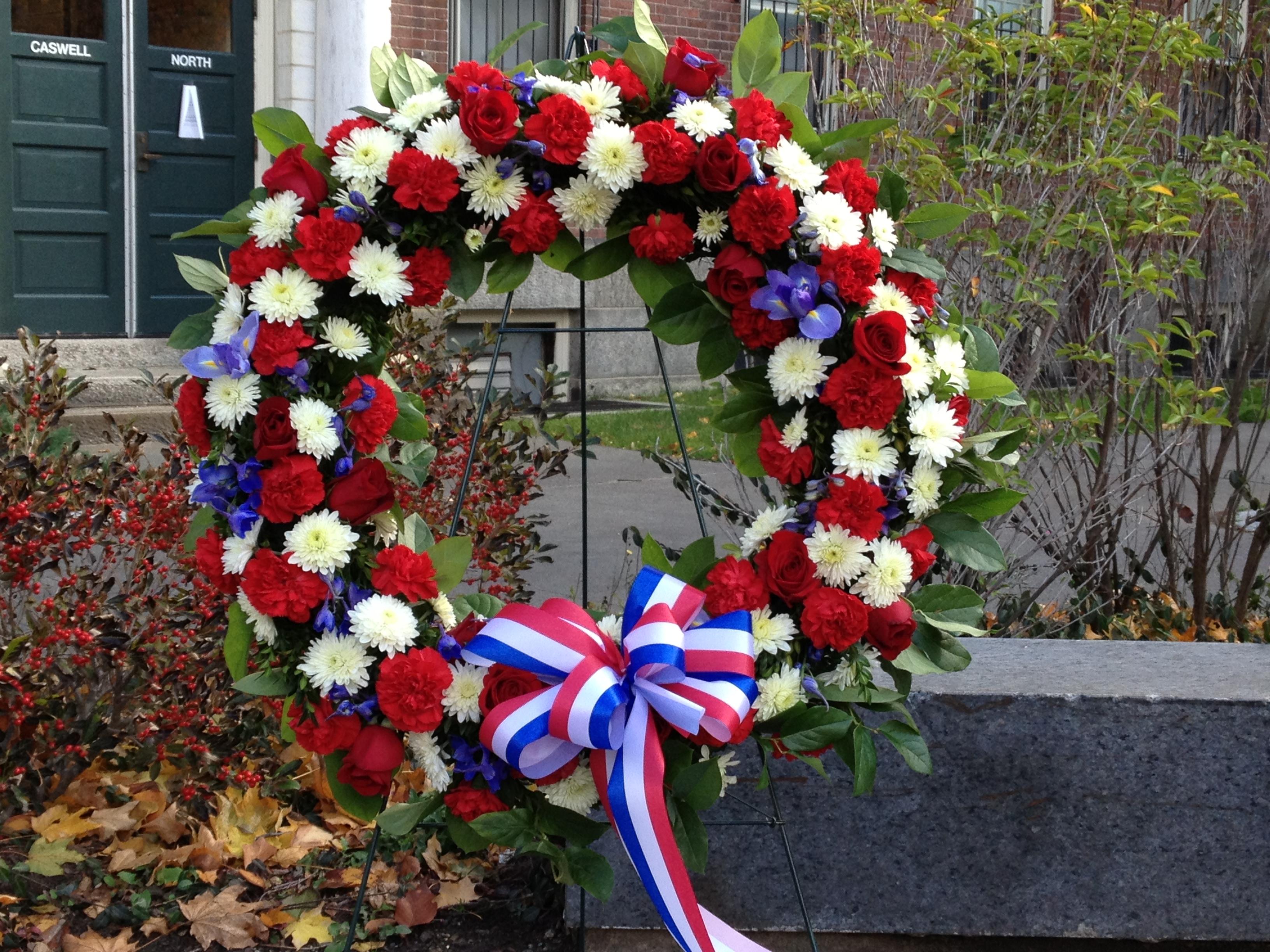 A Veterans Day wreath.