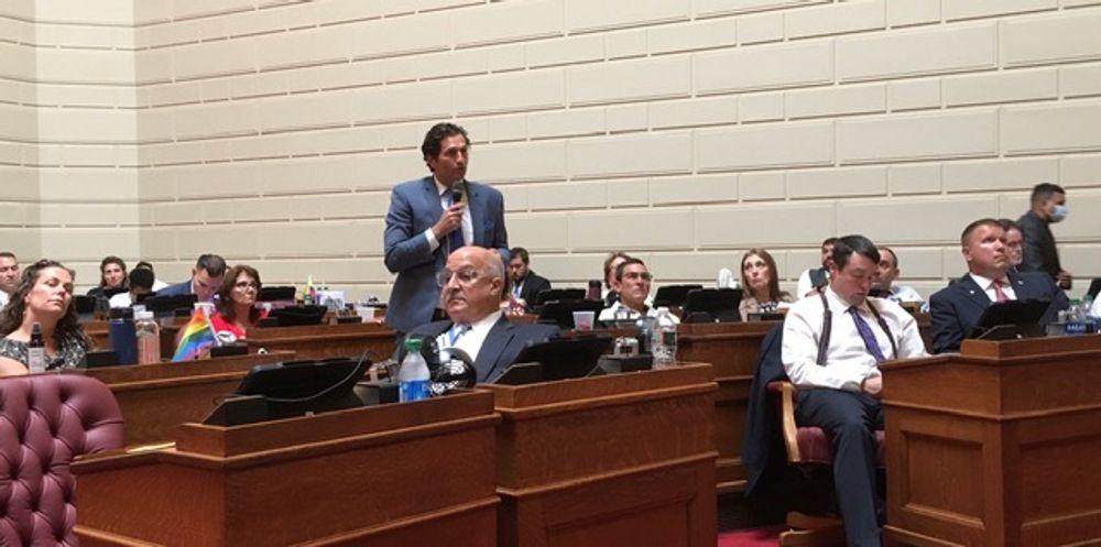 House GOP Leader Blake Filippi during the budget debate