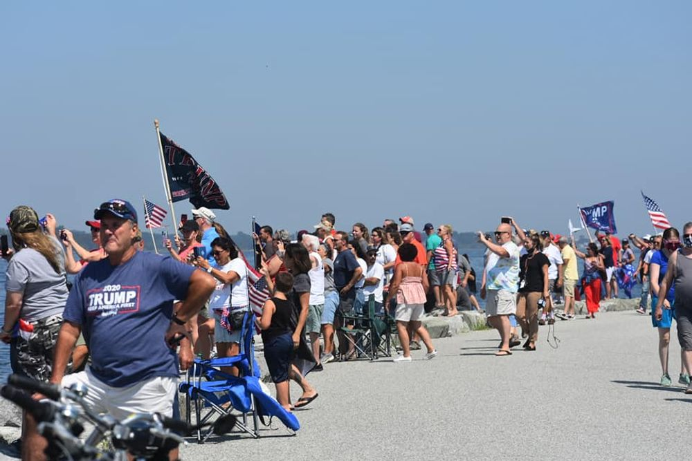 About 2,000 spectators, according to the DEM's estimate, gathered for the rally in Colt State Park on Sunday.