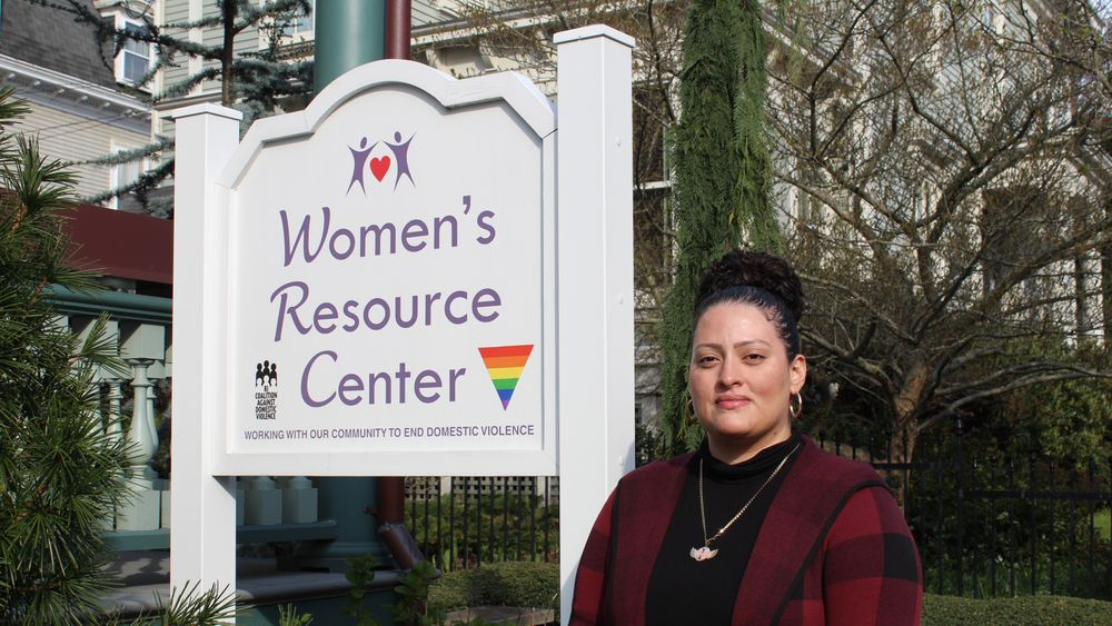 Neyda DeJesus at the Women's Resource Center, a domestic violence prevention agency in Newport.