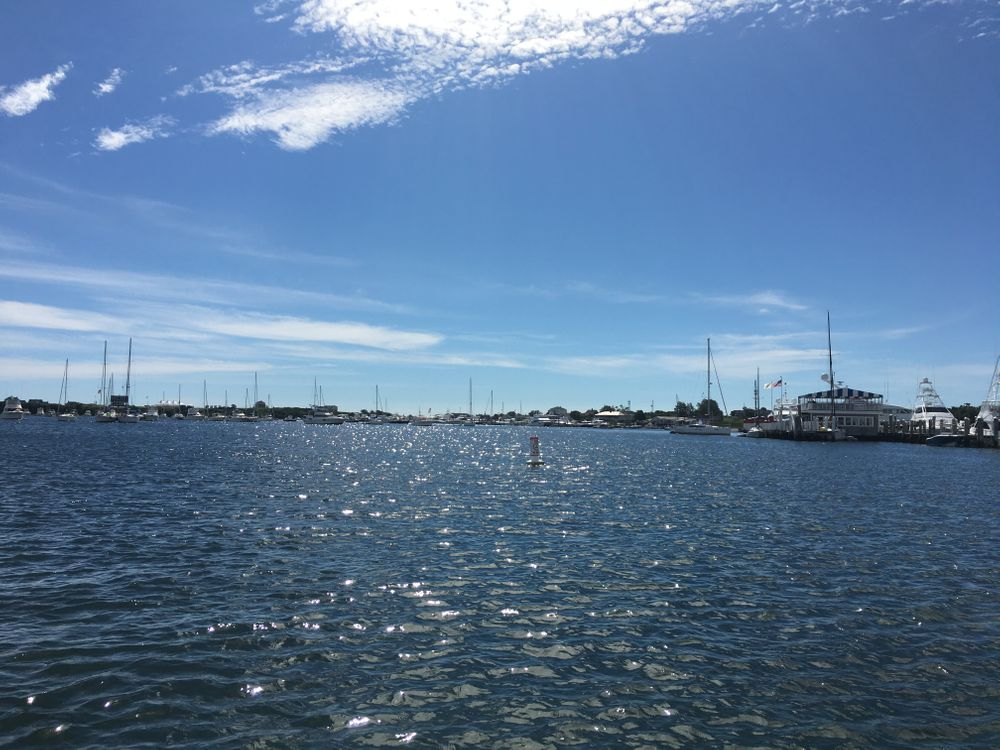 Since 2003, the owners of Champlin's Marina and Resort (right) have been fighting for permission to expand the marina 240 feet into Block Island's Great Salt Pond.