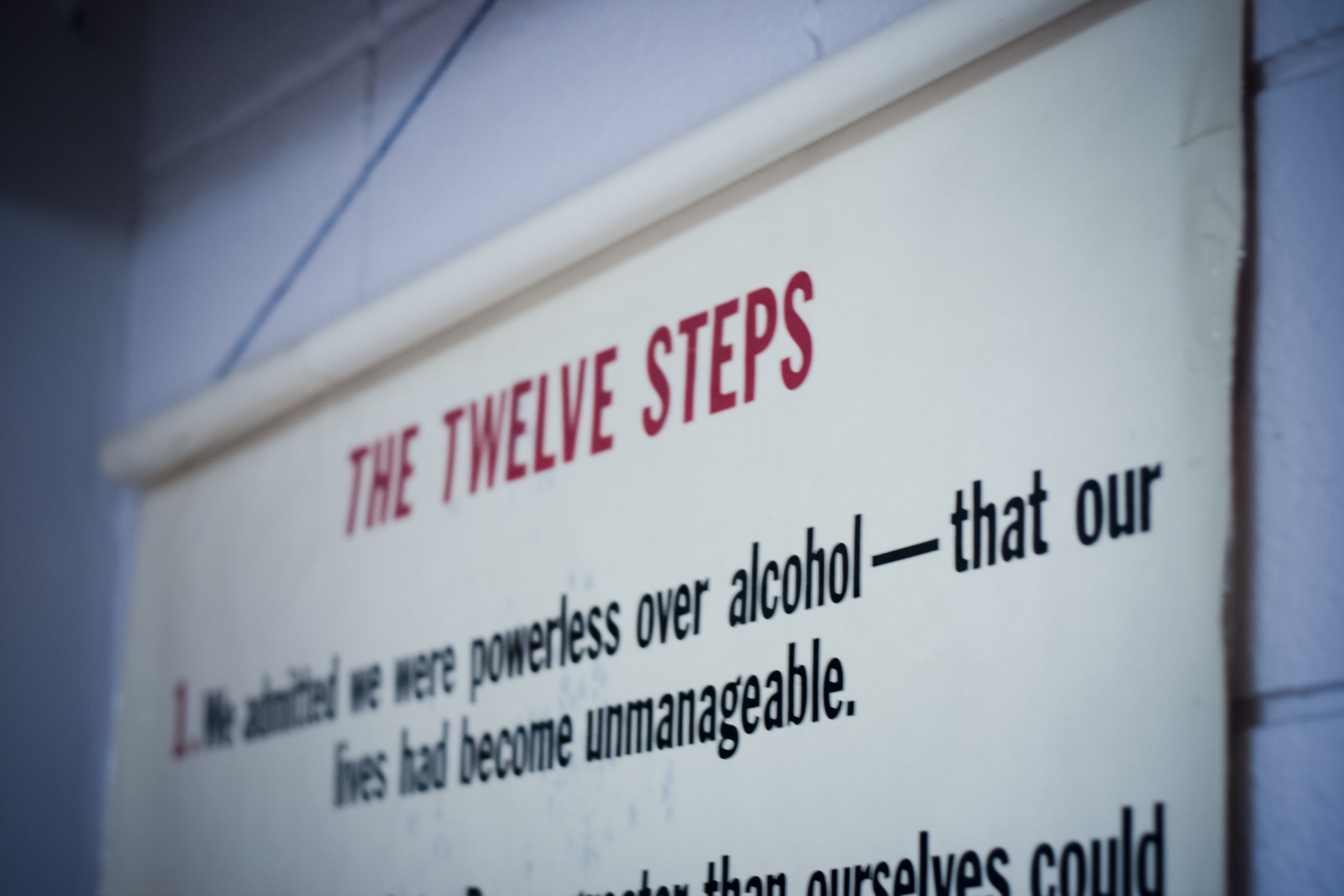 Step one of the Twelve Steps is pictured here.