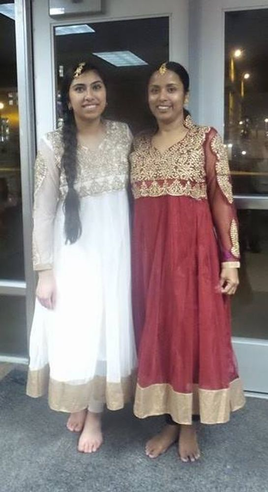 Rupa's first student for Bollywood dance, Nelli