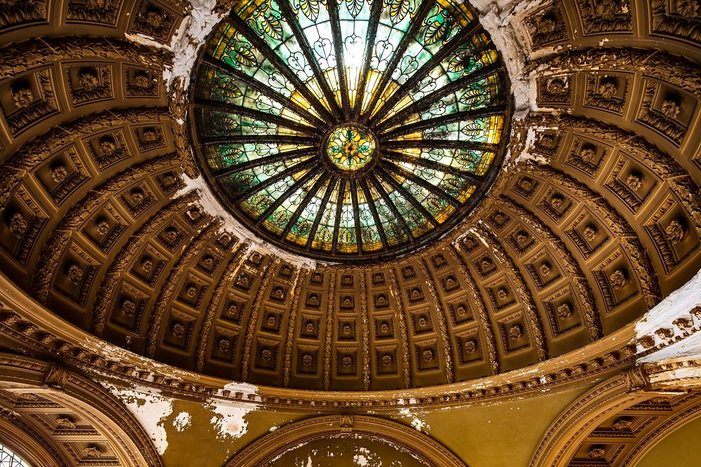 Stained Glass dome of Industrial Trust Bank