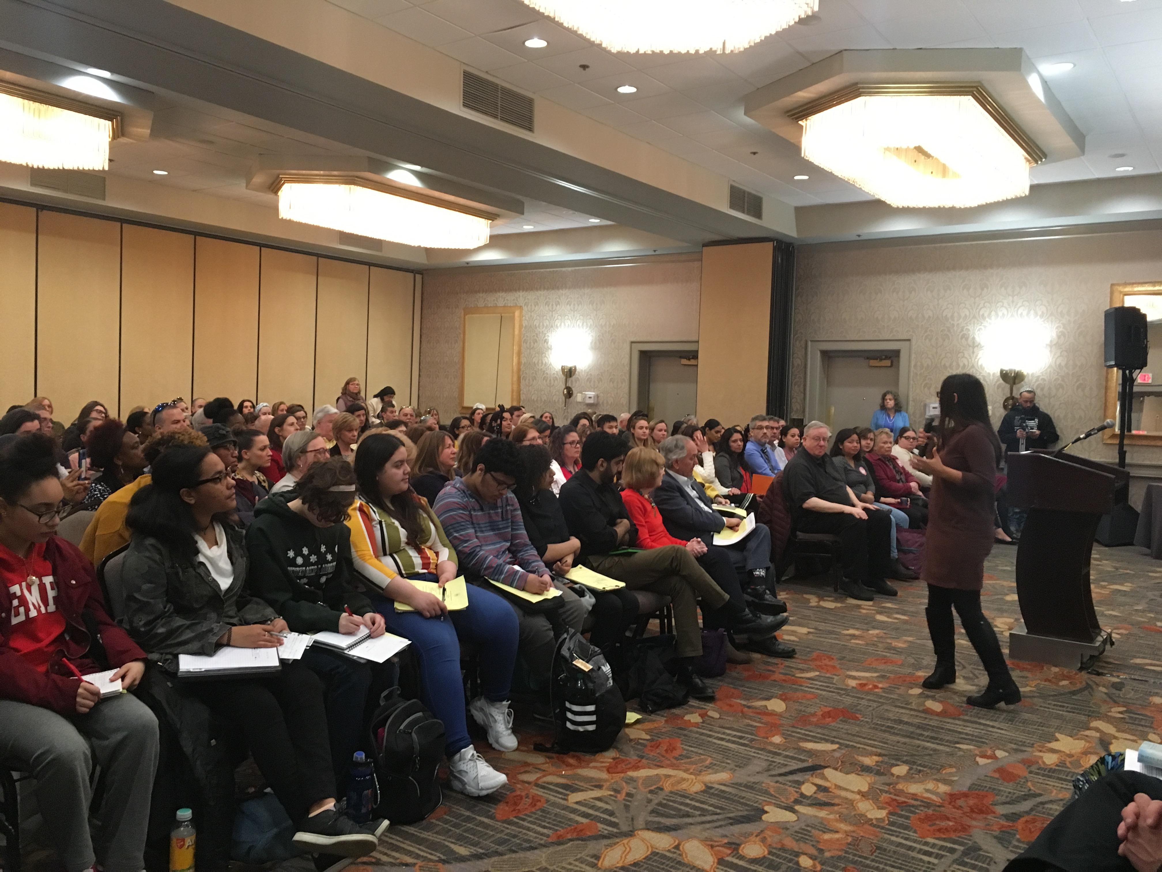 Dr. Mona Hanna-Attisha speaking in Providence, April 11th 2019.