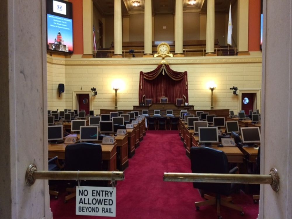 A vacant House chamber during a previous legislative session.