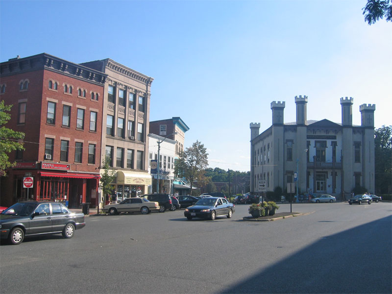 Northampton City Hall and Main Street, Northampton, MA