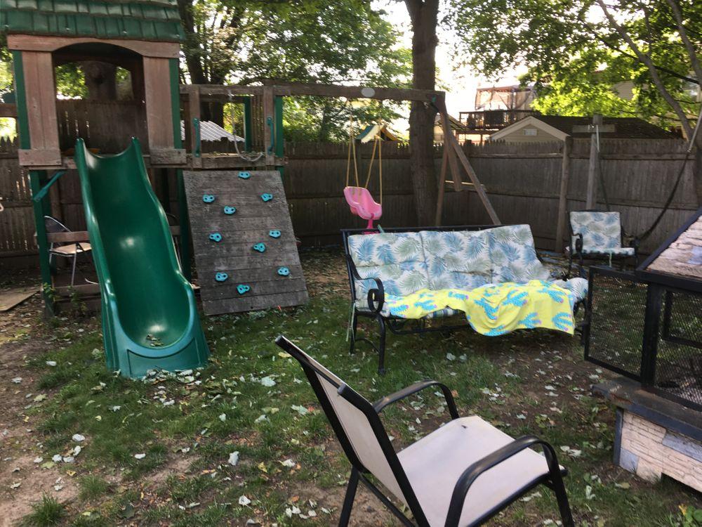Mary's backyard.