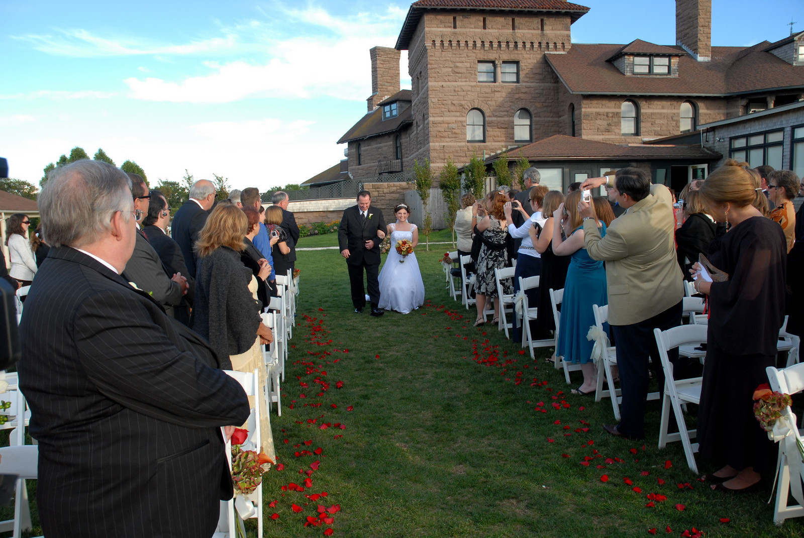 Roughly 110 guests attend a wedding at the Newport's OceanCliff Hotel in 2007.