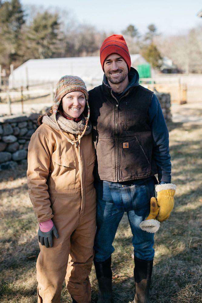 Rachael Slattery and Ben Coerper, owners of Wild Harmony Farm in Exeter.