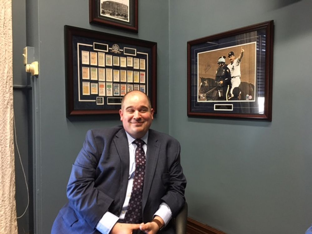 Iannazzi  in his state Senate office