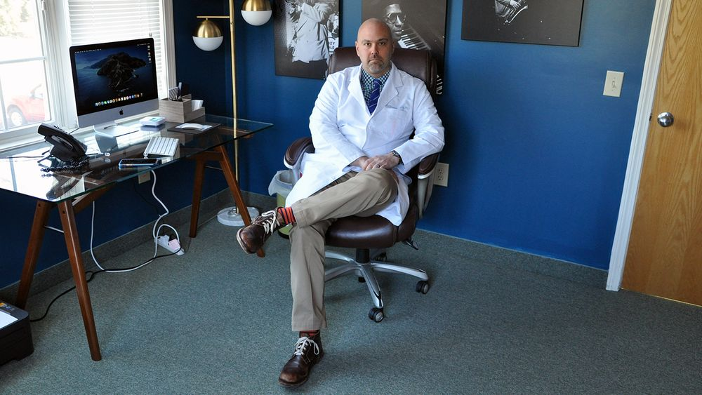 Dr. Anthony Gallo is pictured in his office in North Kingstown on Monday, March 16, 2020.