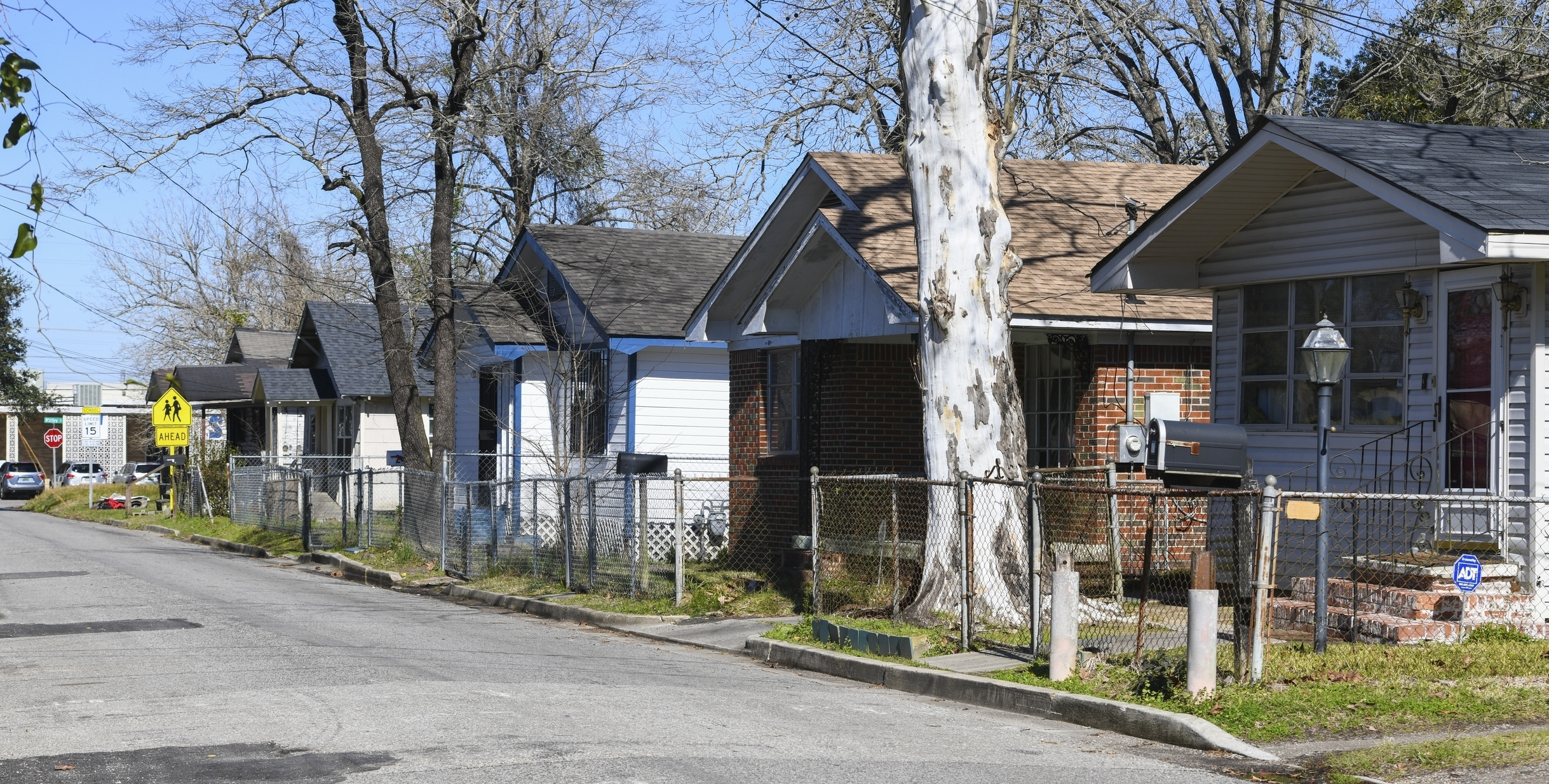 Homes line Richardson Drive in Africatown in Mobile, Ala., on Tuesday, Jan. 29, 2019. The population has suffered greatly in recent years, leaving much of the area in disrepair. Established by the last boatload of Africans abducted into slavery and shipped to the United States just before the Civil War, the coastal Alabama community now shows scarcely a trace of its founders. (AP Photo/Julie Bennett)