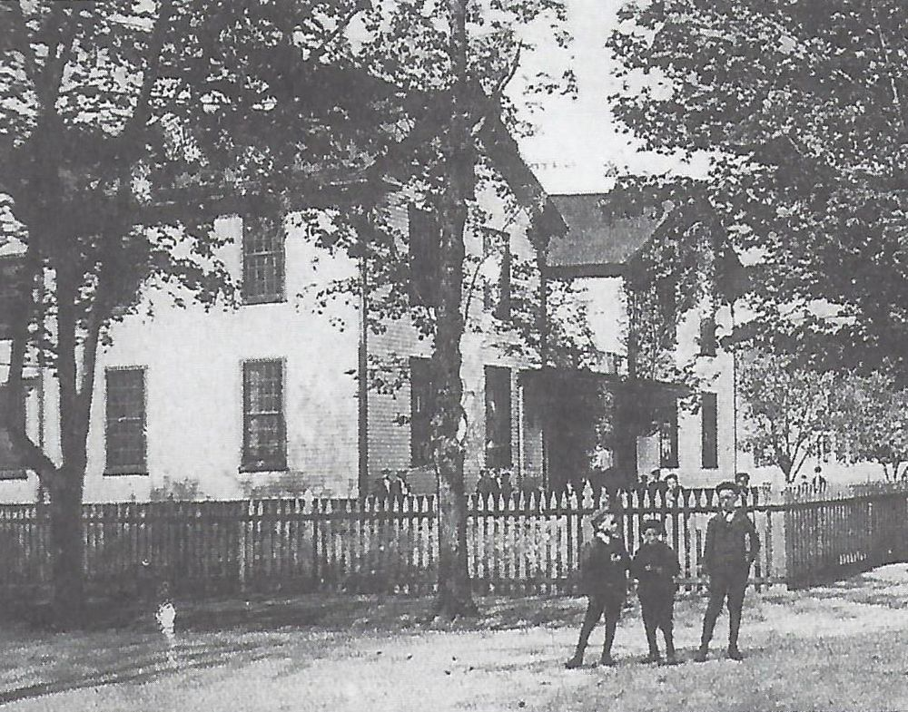 The Pleasant Street  School in Westerly, R.I., is pictured circa 1907. The school was one of two elementary schools in town converted into hospitals during the Spanish Flu.