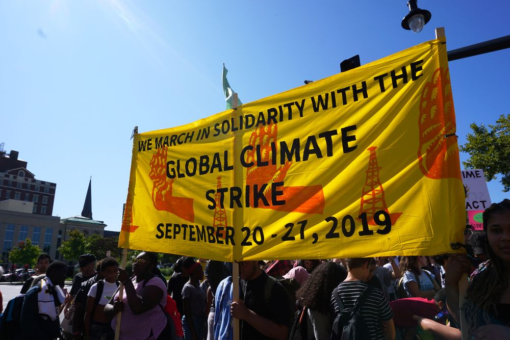 Hundreds Join Climate Change Demonstration In Providence