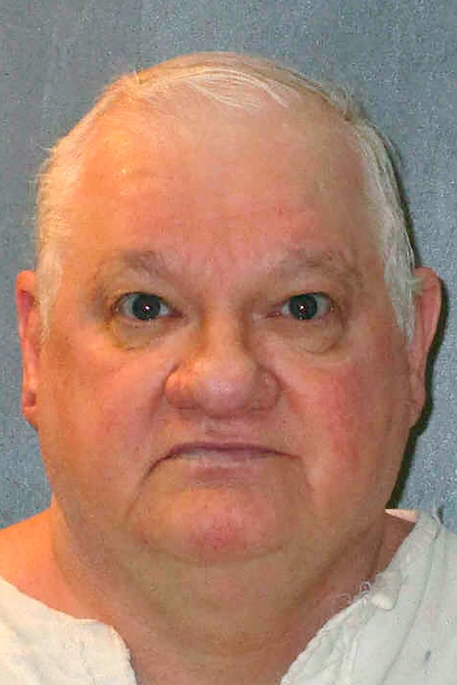 This undated photo provided by the Texas Department of Criminal Justice shows Billy Jack Crutsinger. Texas death row inmate Crutsinger is facing execution Wednesday, Sept. 4, 2019, for fatally stabbing an 89-year-old woman and her daughter more than 16 years ago after entering their Fort Worth home under the pretense of doing some work for them. (Texas Department of Criminal Justice via AP)