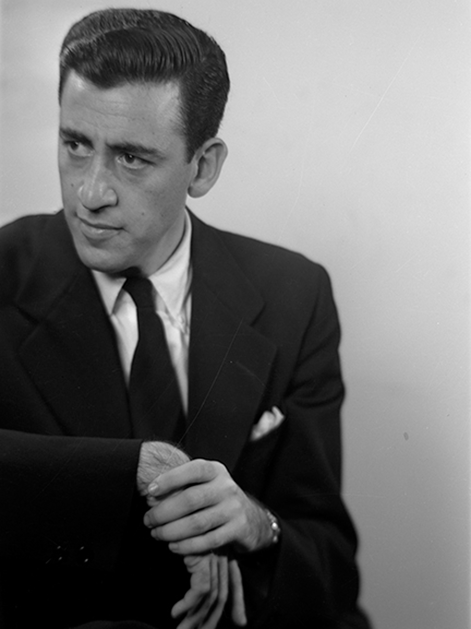 This image provided by the University of New Hampshire shows a photo of author J.D. Salinger taken by Lotte Jacobi for the book jacket of his 1951 novel