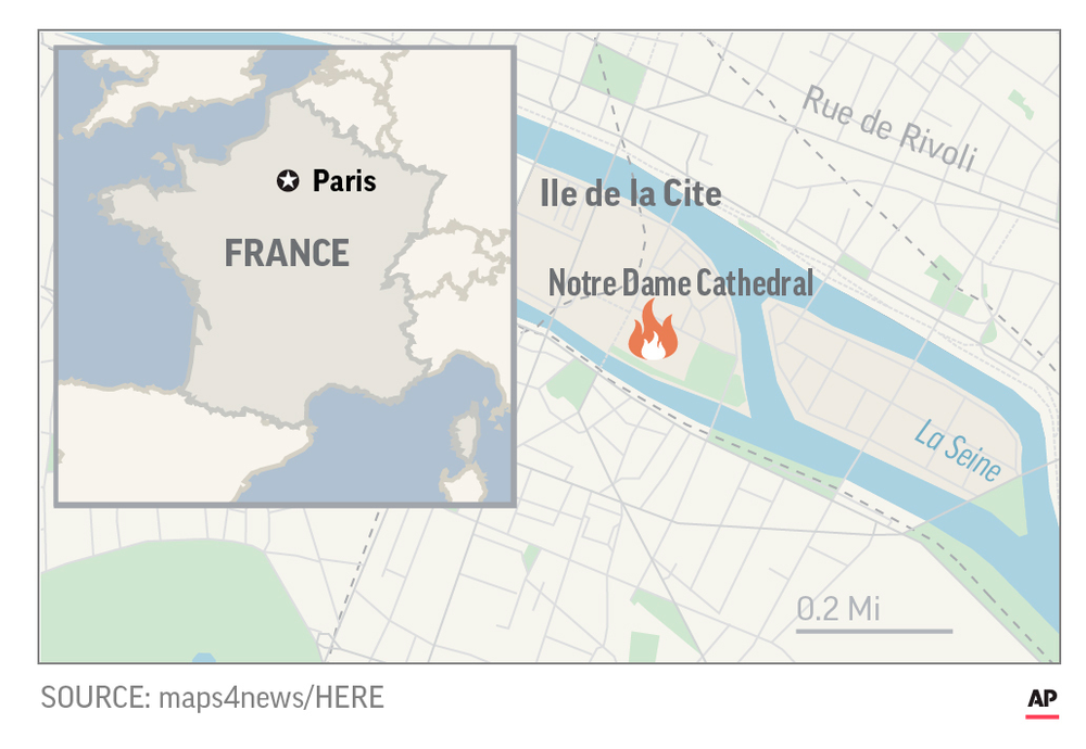 UPDATED Locator Map for Notre Dame Fire.;