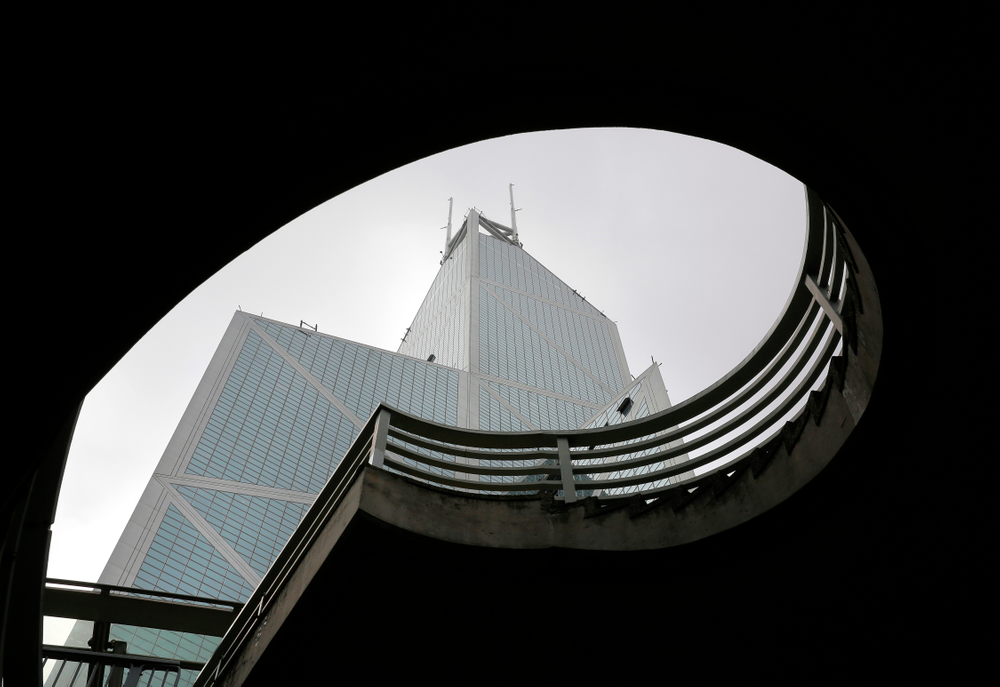 Bank of China Tower, a building designed by architect I.M. Pei, is seen in Hong Kong Friday, May 17, 2019. Pei, the globe-trotting architect who revived the Louvre museum in Paris with a giant glass pyramid and captured the spirit of rebellion at the multi-shaped Rock and Roll Hall of Fame, has died at age 102, a spokesman confirmed Thursday. (AP Photo/Vincent Yu)