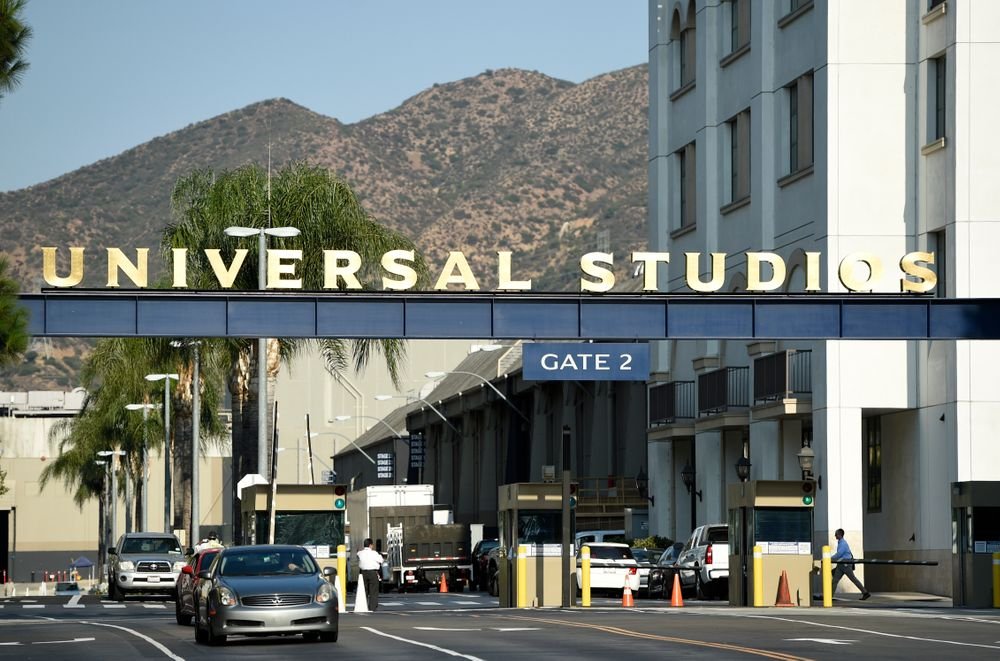 FILE - In this Aug. 23, 2016 file photo, the entrance to the Universal Studios lot is pictured in Universal City, Calif. Universal Pictures has canceled the planned September 2019 release of its controversial social thriller