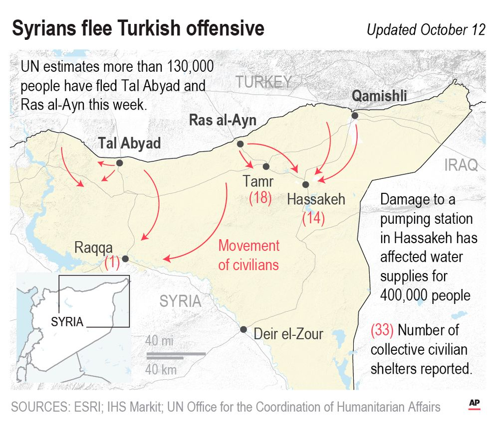 With airstrikes and artillery, Turkey has launched an offensive aimed at crushing Kurdish fighters in northern Syria.;