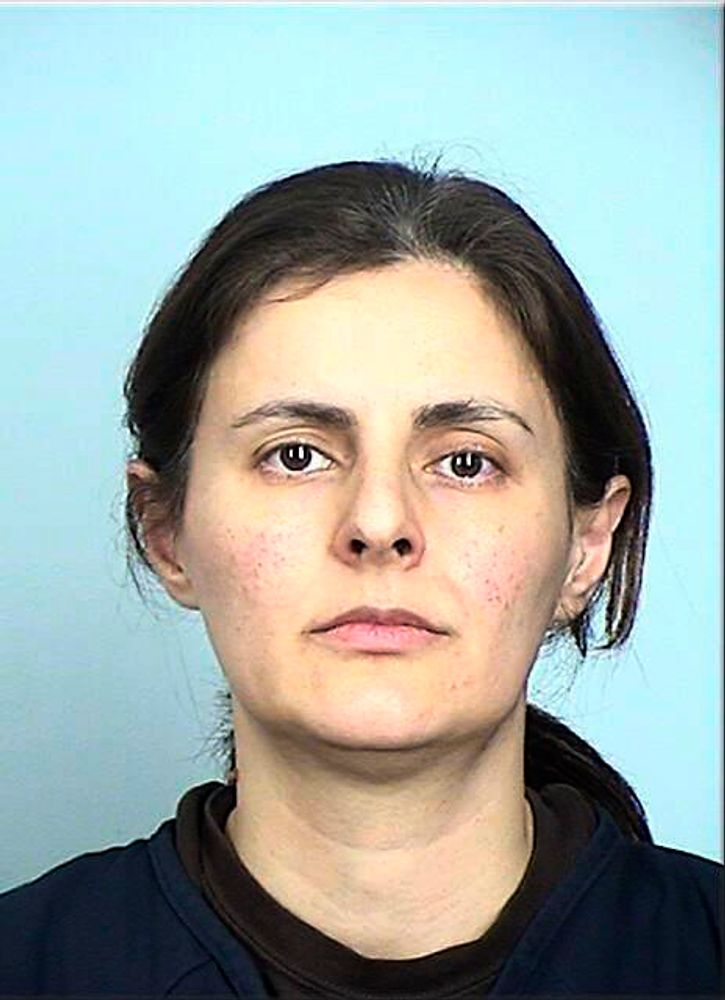 FILE - This undated file photo provided by the Sherburne County Sheriff's Office shows Negar Ghodskani, an Iranian citizen, who was sentenced Tuesday, Sept. 24, 2019, in Minnesota to 27 months in federal prison for her role in an alleged conspiracy to illegally export restricted technology from the U.S. to Iran. Ghodskani was deported Tuesday after she was sentenced to time served.  (Sherburne County Sheriff's Office via AP, File)