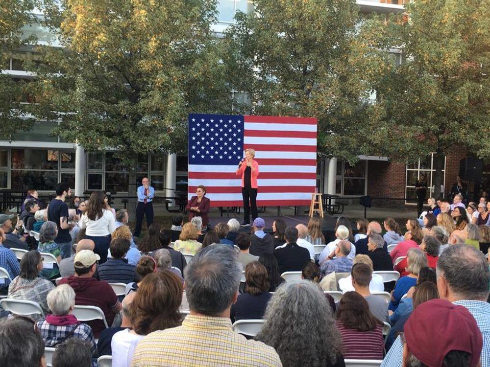 Elizabeth Warren campaigned in Keene, N.H., on Wednesday.