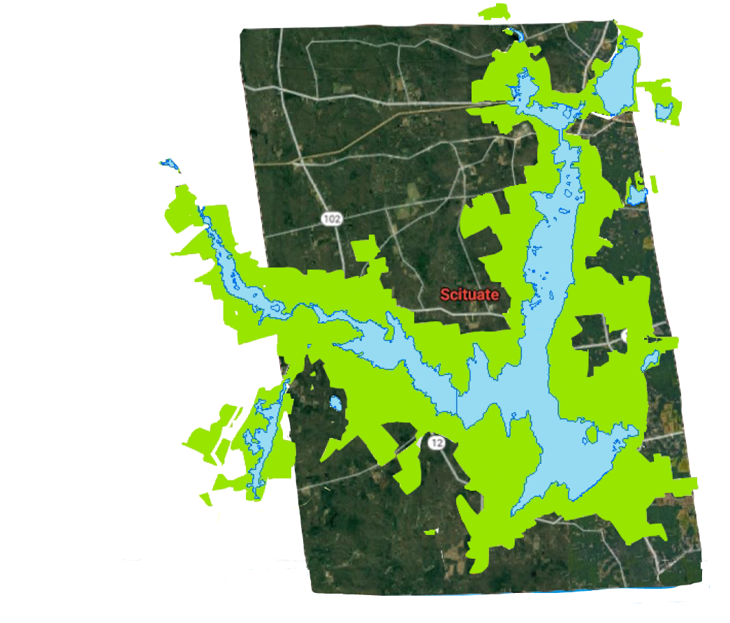 Providence Water Supply Board owns 42% of the land in the town of Scituate.