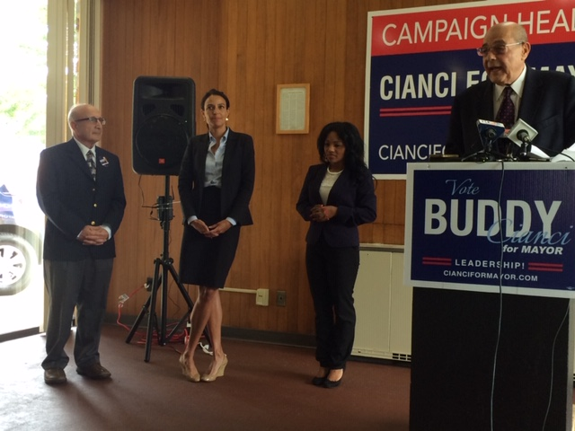 McKenna (second from left) while working on Cianci's 2014 campaign.