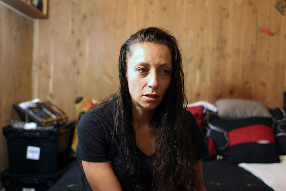 Jessica Sousa was evicted from her apartment in Fall River this spring, despite filling out paperwork that would have invoked  the federal moratorium on evictions. She's staying temporarily with a friend.