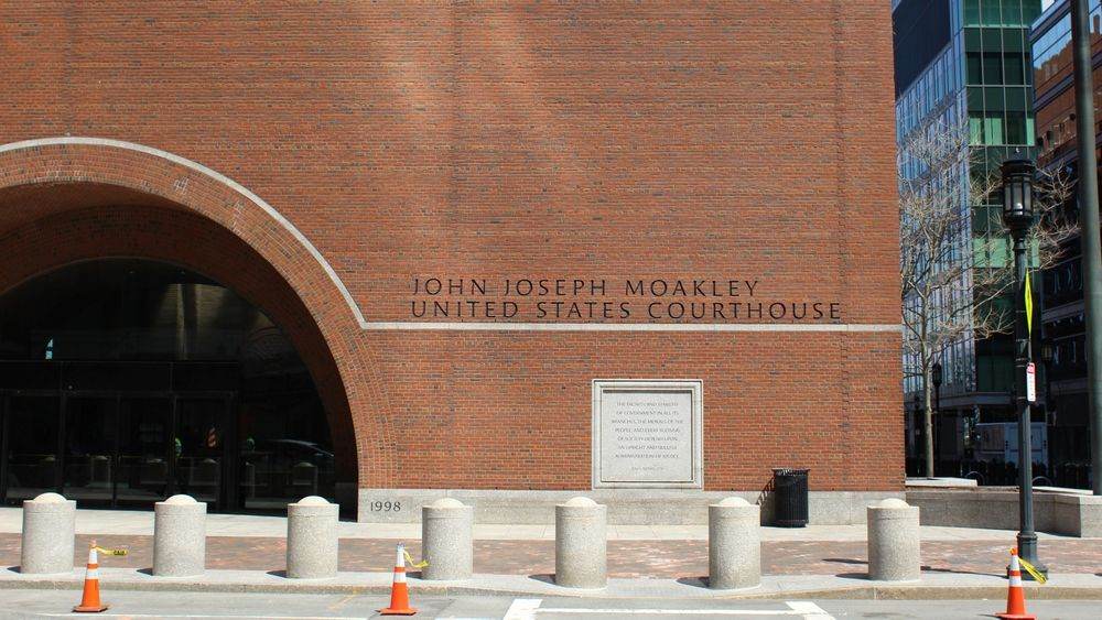 The trial is one of the first to be held at Boston's federal courthouse during the pandemic.