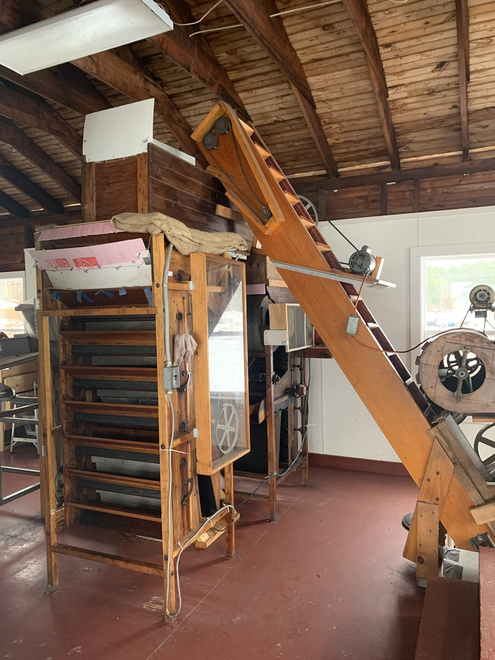 A mechanical sorter at Fresh Meadows Farm is pictured here
