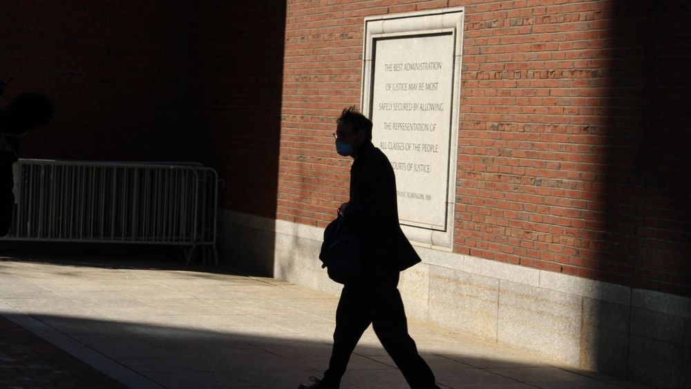 David Cabeceiras leaves the U.S. District Court in Boston after testifying.