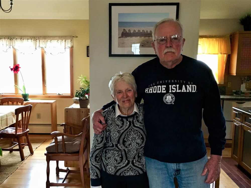 Diane and Tom O'Brien in their home on Prospect Road.