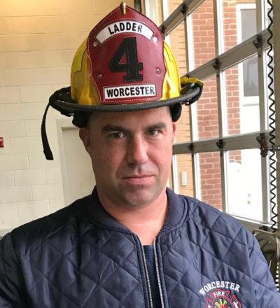 Worcester firefighter Christopher Roy