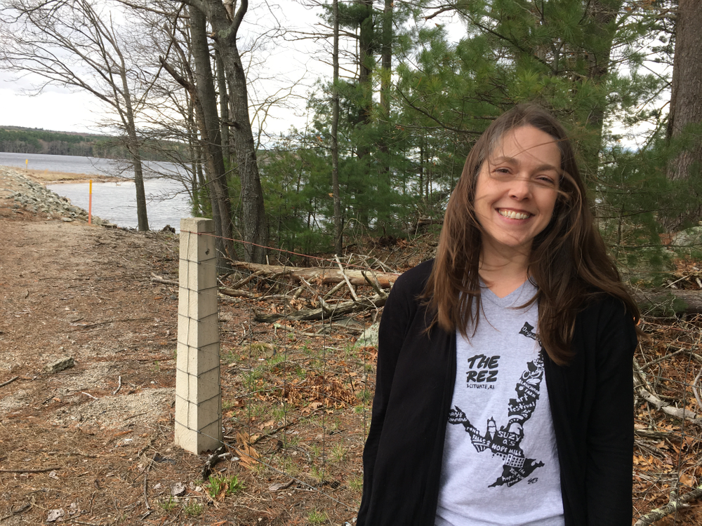 Archaeologist Kim Smith volunteers with the Scituate Preservation Society.