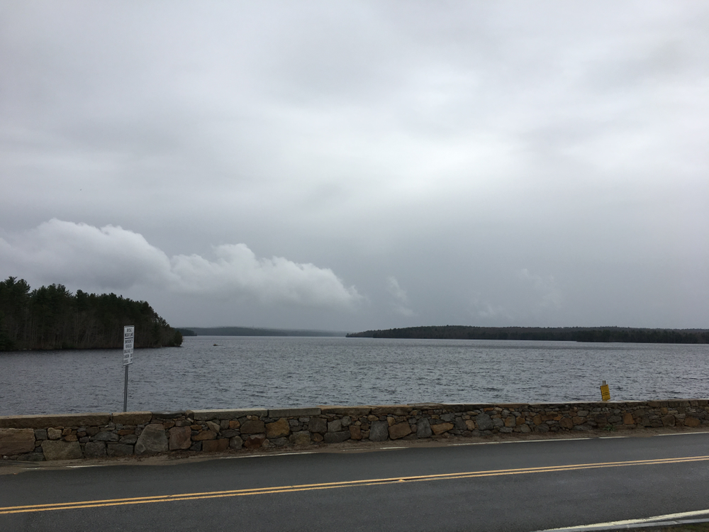 The Scituate Reservoir, looking northwest from the dam.