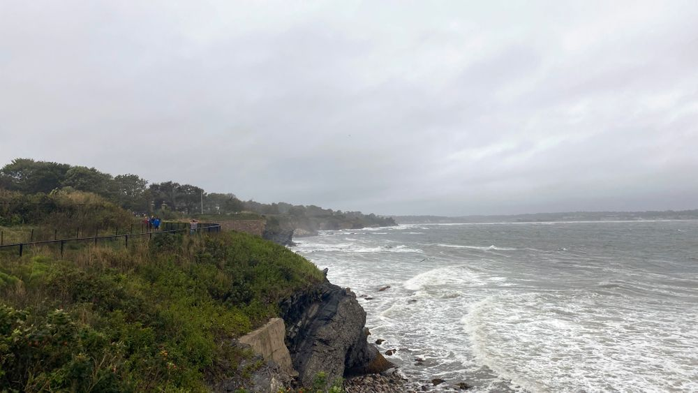 Some beaches near Newport's Cliff Walk were closed after Tropical Storm Henri passed through.