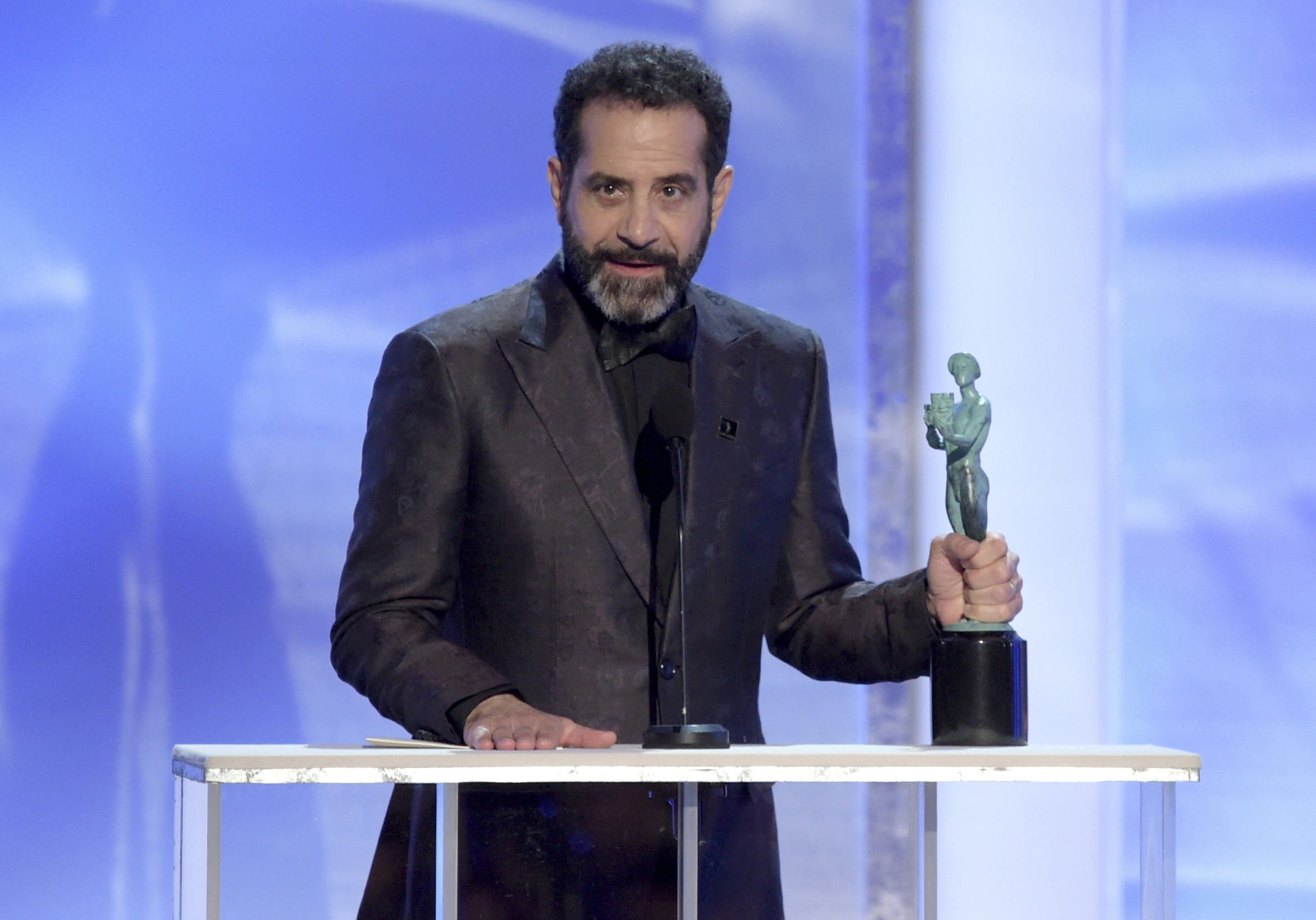 Tony Shalhoub accepts the award for outstanding performance by a male actor in a comedy series for
